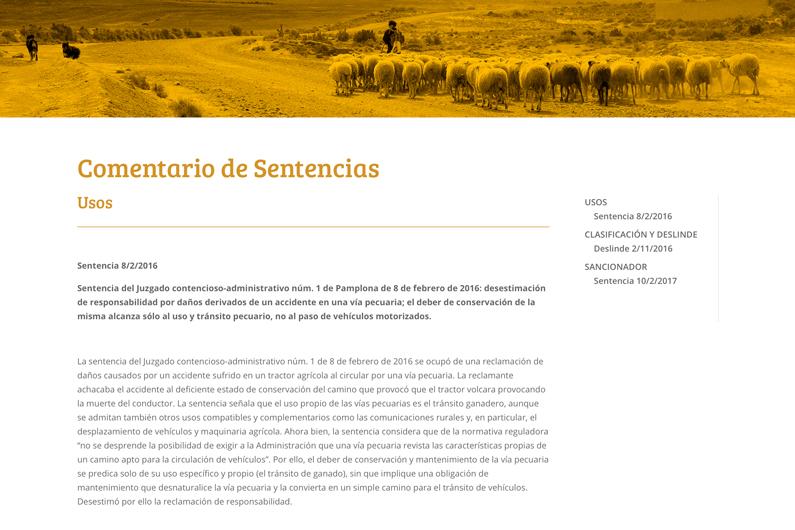 NUEVA SECCION EN LA PÁGINA WEB «COMENTARIO DE SENTENCIAS»